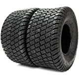 PARTS-DIYER Set of 2 18x9.50-8 Lawn Mower Golf Cart Turf Tires Fronr & Rear Tubeless 4PR P322