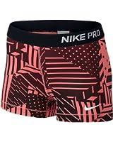 "Nike Women's Pro Core Patchwork 3"" Compression Shorts 642572"