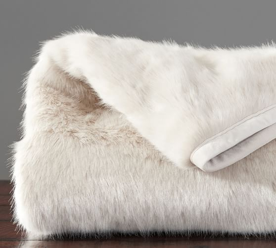 Faux Fur Throw - Fawn | Pottery Barn