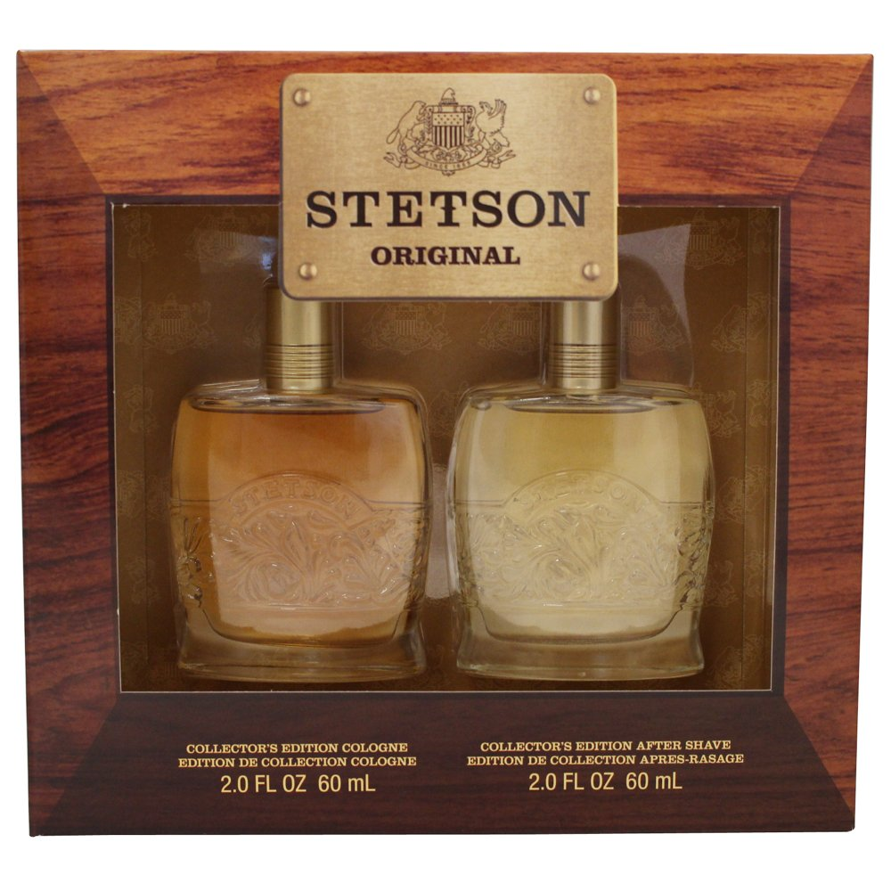 STETSON 2 PC. GIFT SET (COLOGNE 2.0 oz + AFTERSHAVE 2.0 oz) by Coty for Men