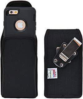 product image for Turtleback Belt Clip Case Compatible with Apple iPhone 6s, iPhone 6 w/OB Defender case Black Vertical Holster Nylon Pouch with Heavy Duty Rotating Belt Clip Made in USA