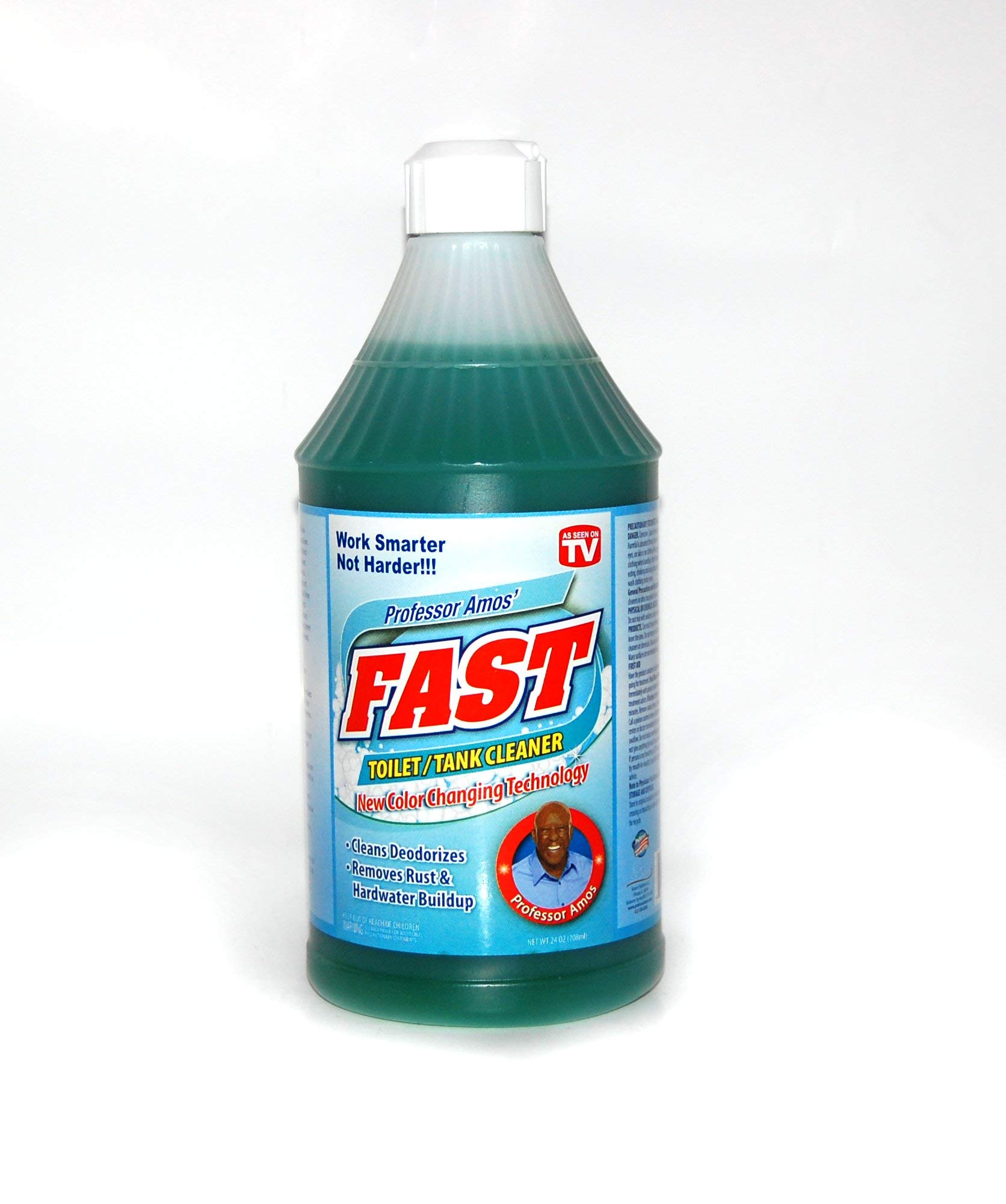 Professor Amos' Fast Toilet & Tank 24 Applications -Cleaner Deodorizer/Remove Rust/Hard Water/Lime/Mildew/Mold