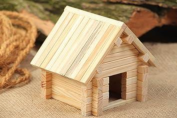 Juego de construcción madera caseta para perro 53 Pieces Original hecho a mano: Amazon.es: Hogar