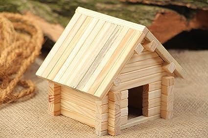 Juego de construcción madera caseta para perro 53 Pieces Original hecho a mano