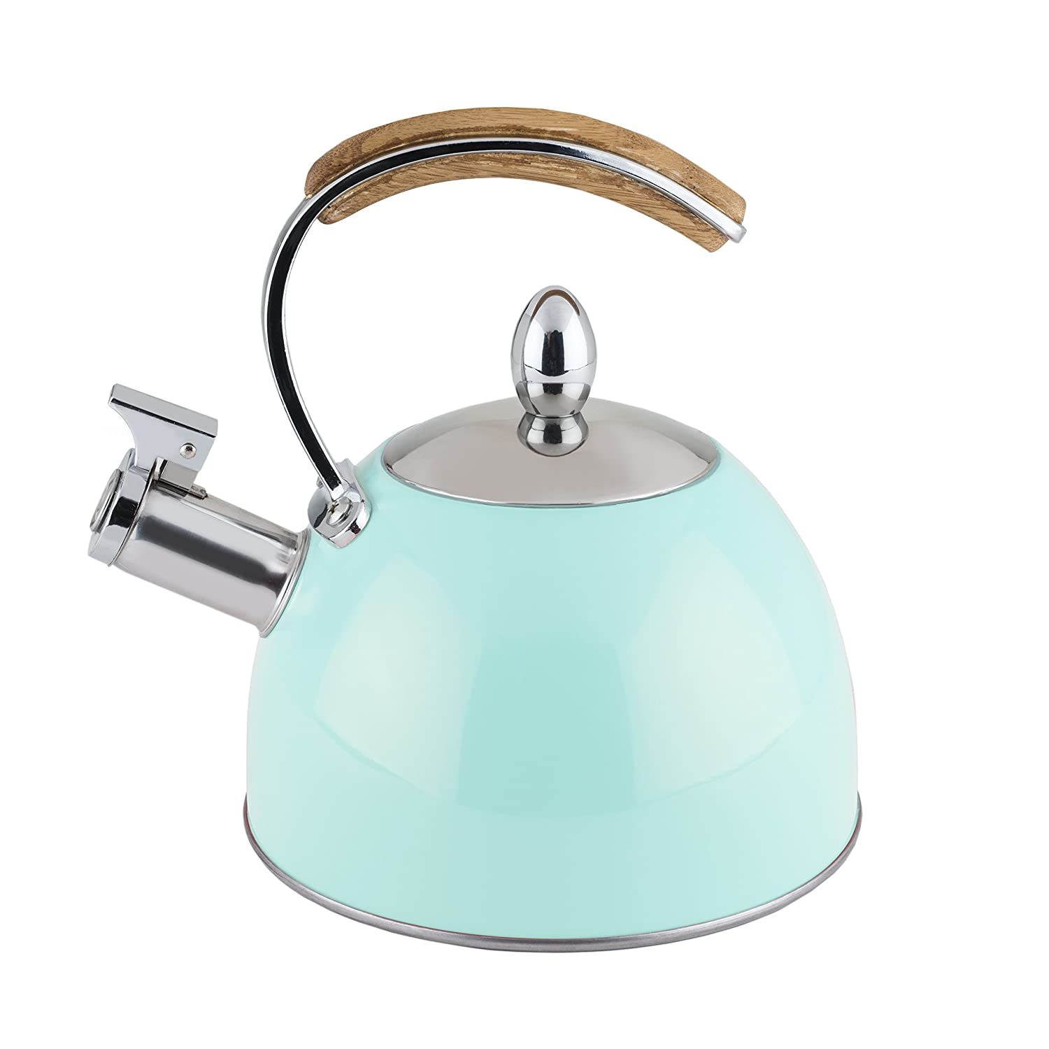amazoncom presley tea kettle by pinky up (blue) whistling stove  - amazoncom presley tea kettle by pinky up (blue) whistling stove top teakettle  kitchen  dining