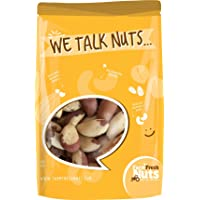 Farm Fresh Nuts BRAZIL NUTS Dry Roasted With Health Himalayan Salt (1 LB) Salted Brazilian nuts, Oven Roasted -No Oil, Whole, Shelled, Handpicked for Freshness