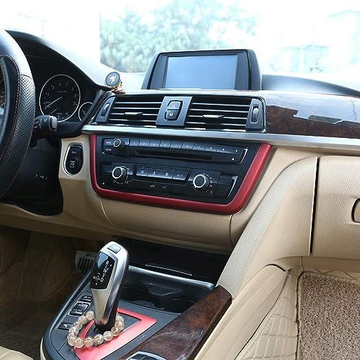 Accemod Autokonsole Cd Panel Zierleiste Für 3er Serie Gt F30 F33 F34 F36 2013 2014 2015 2016 2017 2018 2019 Auto Center Control Frame Trim Red Abs Auto