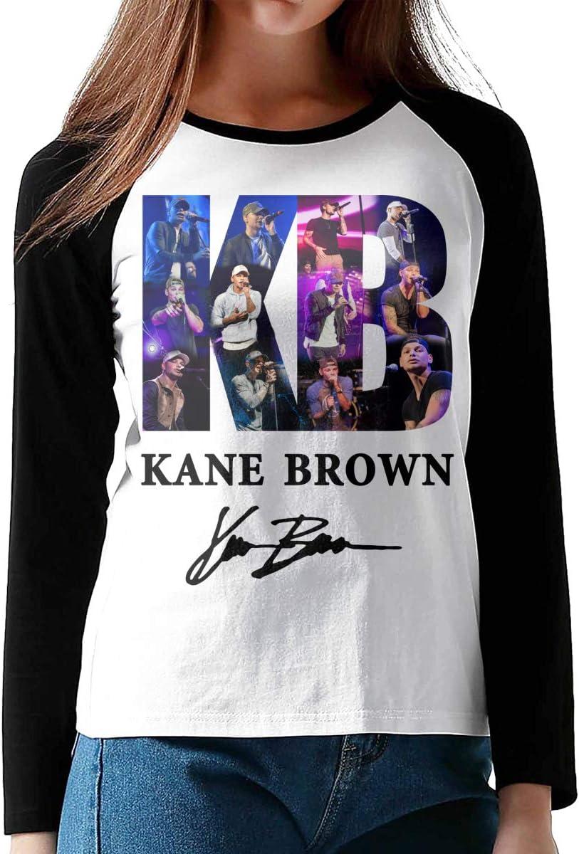 Kane-Brown KB Women Girl Long Sleeve Tee Fitness T Shirt Contrast