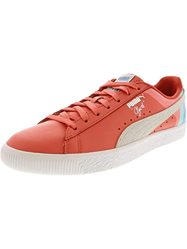 b263d752fc56 Amazon.com | PUMA Mens Clyde - Pink Dolphin | Fashion Sneakers