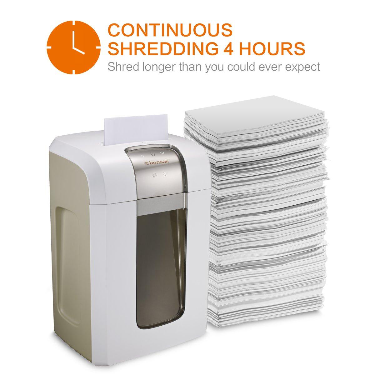Amazon.com : Bonsaii Paper Shredder, 240 Minutes Continuous ...