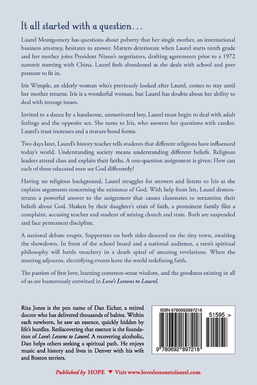 Love's Lessons to Laurel: Rita Jones, Dan Eicher M.D.: 9780692897218:  Amazon.com: Books