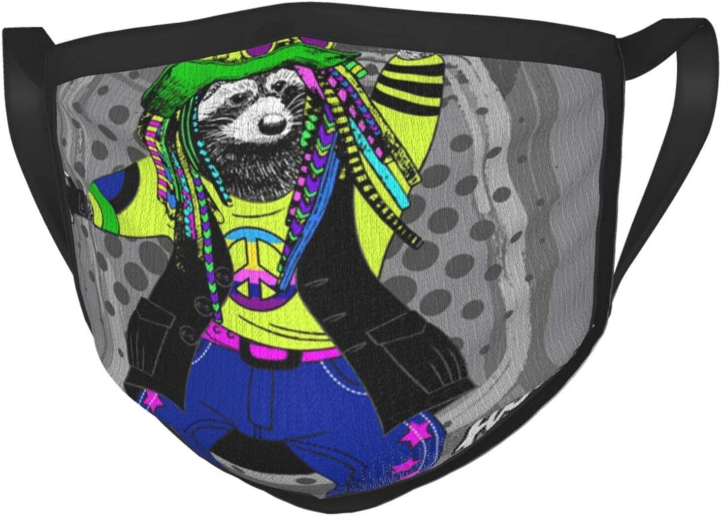 Vector Clothing Raccon - Gafas de mapache para adultos, color negro, protección facial portátil, bandana, borde elástico, pasamontañas