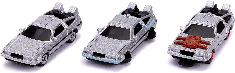 2 /& 3 vehicles 1:64 scale diecast model jada nano hollywood rides 3 car set Back to the Future Time Machine Set DMC Delorean part 1