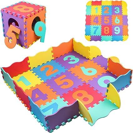 10Pcs EVA Foam Puzzle Exercise Mat  Tiles Kids Baby Crawling Mat