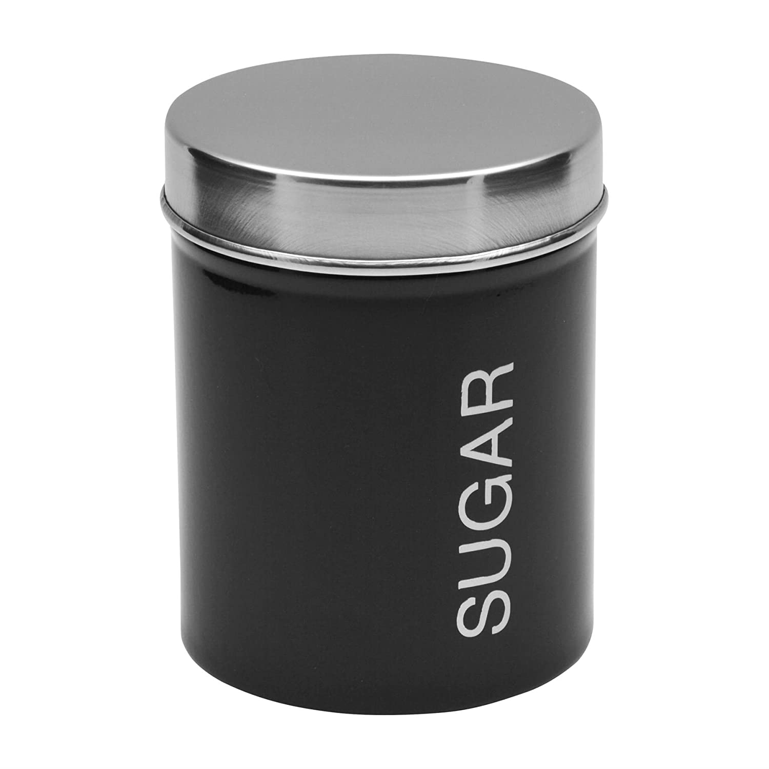 Harbour Housewares Metal Sugar Canister - Black