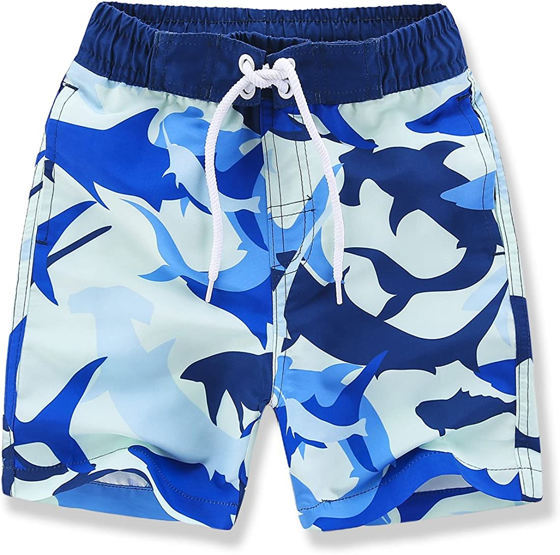Kute 'n' Koo Boys Swim Trunks, UPF 50+ Quick Dry Boys Swim Shorts, Toddlers Swim Trunks Size from 2T to 18/20