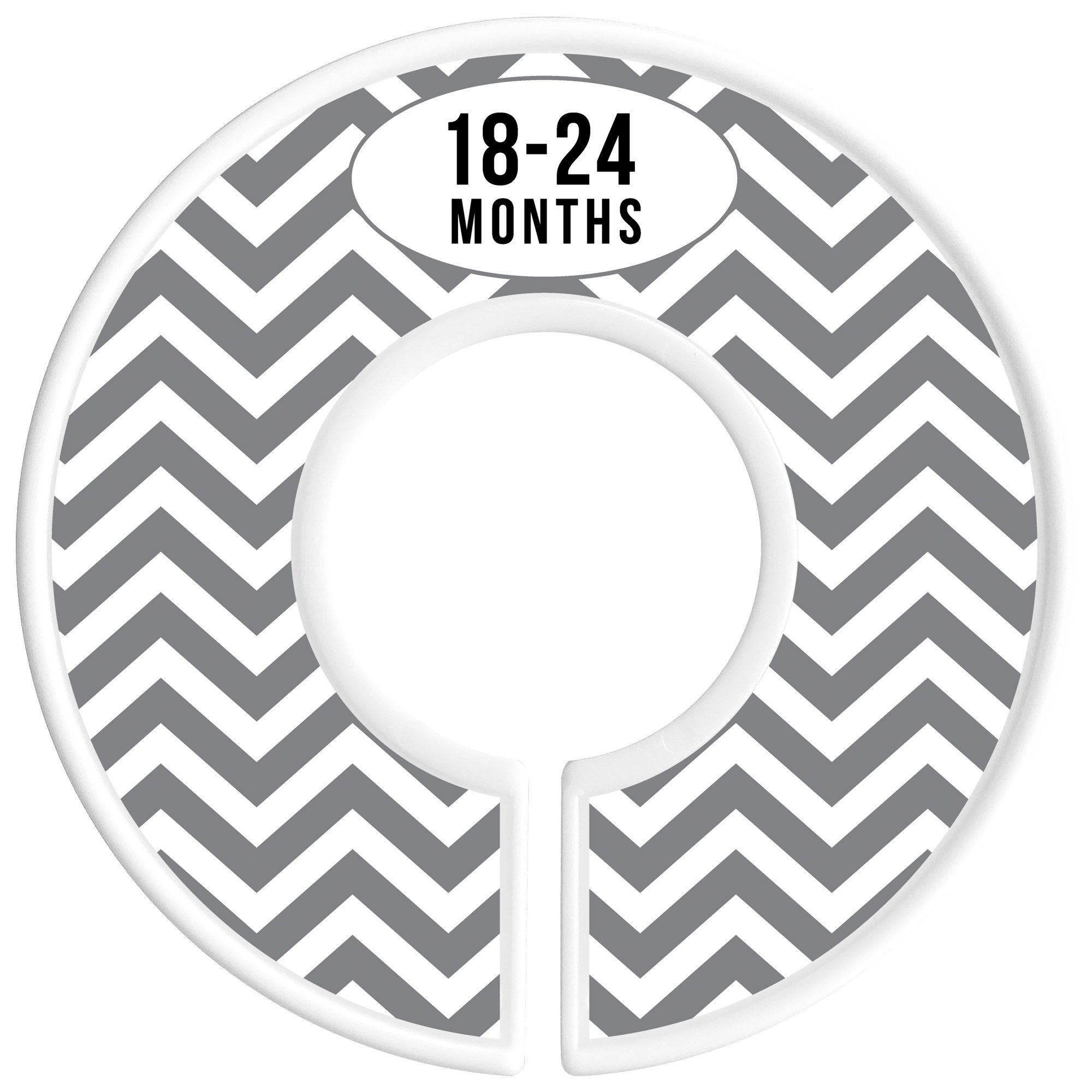 Delicush Baby Closet Dividers, Stripe, Chevron, Set of 6 Size Organizers, Nursery Closet Organizers, Baby Size Dividers, Glossy Finish, Boy, Girl (Grey) by DELICUSH (Image #8)