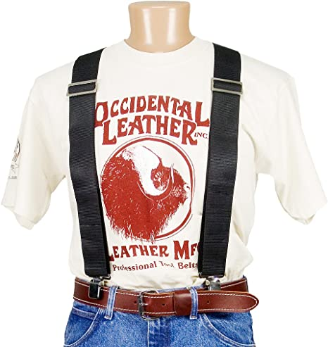 55148e843d9 Image Unavailable. Image not available for. Color  Occidental Leather 9020B Oxy  Nylon Suspenders - Black