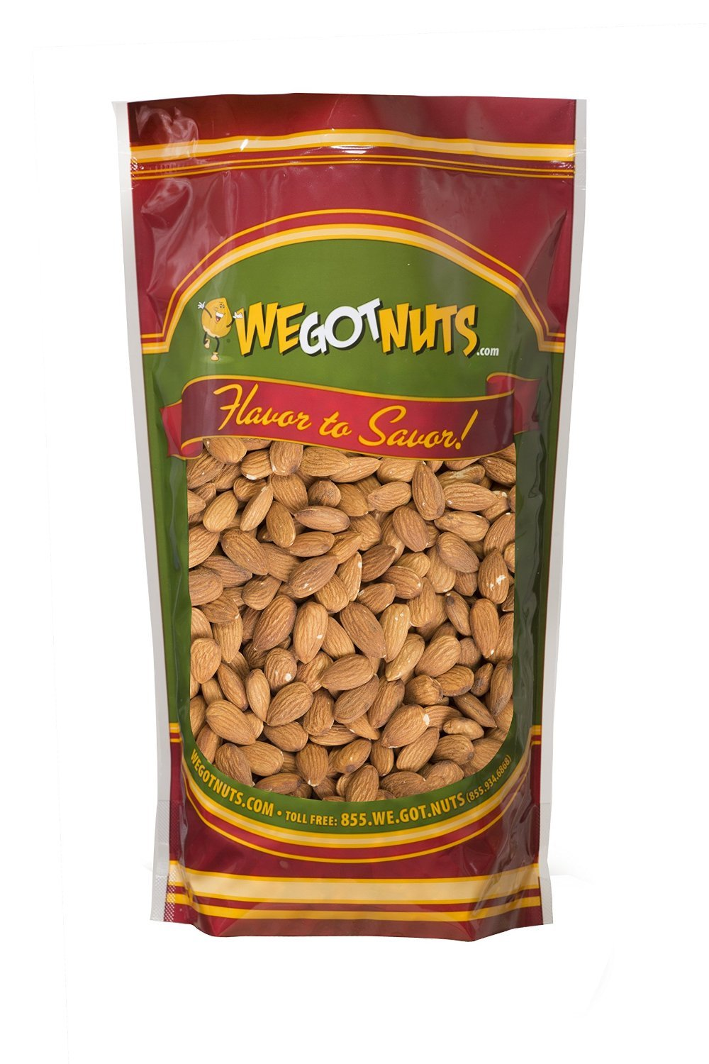 We Got Nuts Jumbo Almonds (Whole, Raw, Shelled, Unsalted) (4 Pounds)
