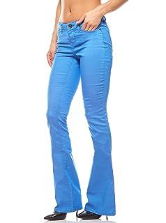 AjC Super Stretch Jeans Damen Damenhose Damenjeans Denim Slim Fit Kurzgröße Blau