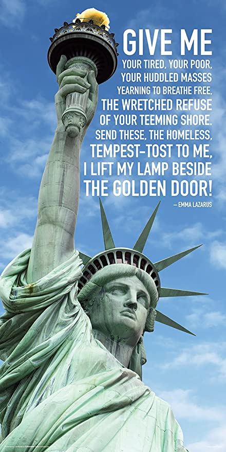 Statue Of Liberty Quote Best Amazon Statue Of Liberty Close Up Clouds Quote Patriotic