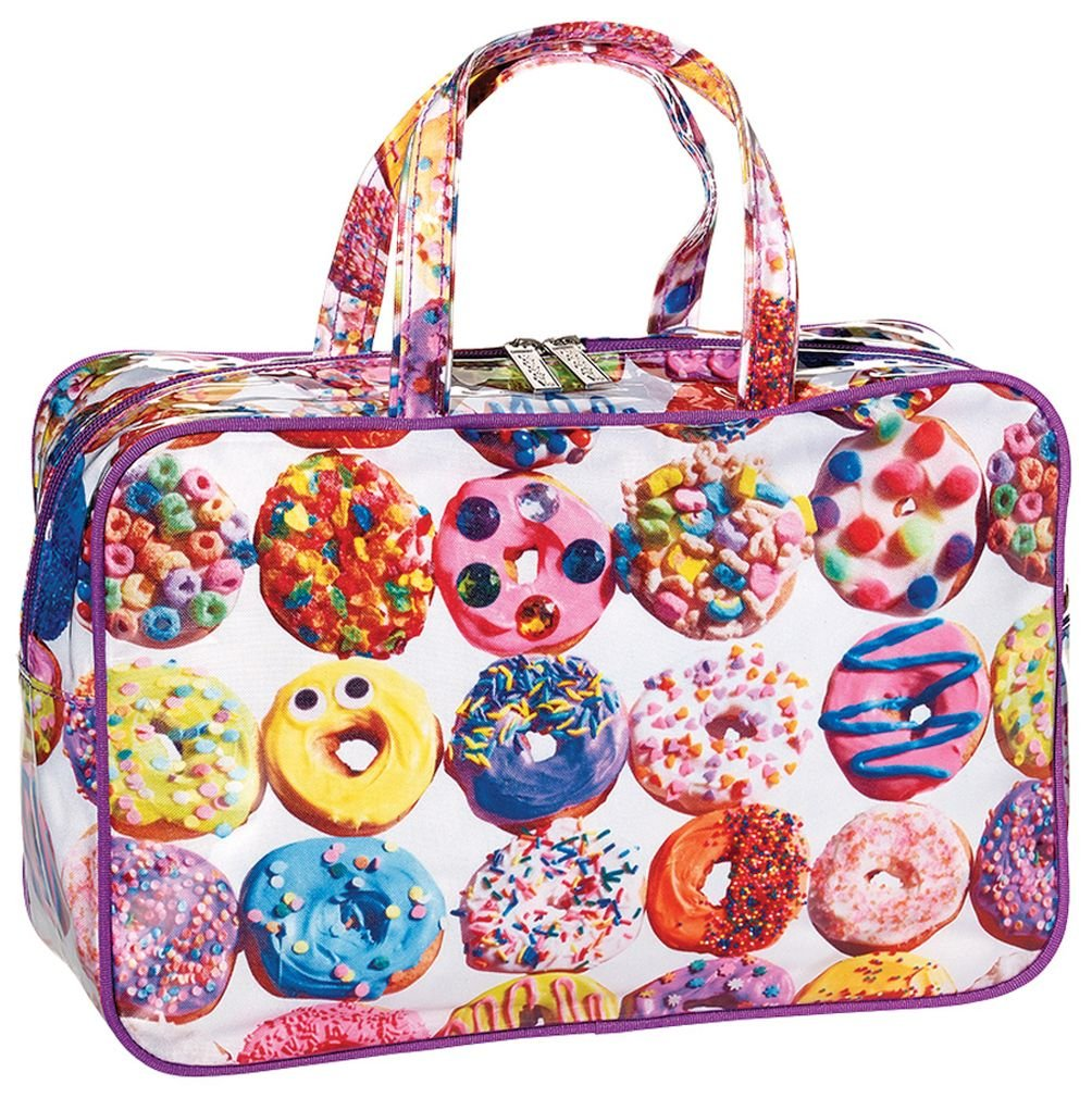 iscream 'Dozens of Donuts' 12.25'' x 8.25'' Double Handle Zippered Cosmetic Bag