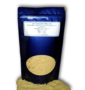 SZ Carnauba Wax #1, 1 lb. For DIY Cosmetics, Soaps, Candles or any Craft Project.