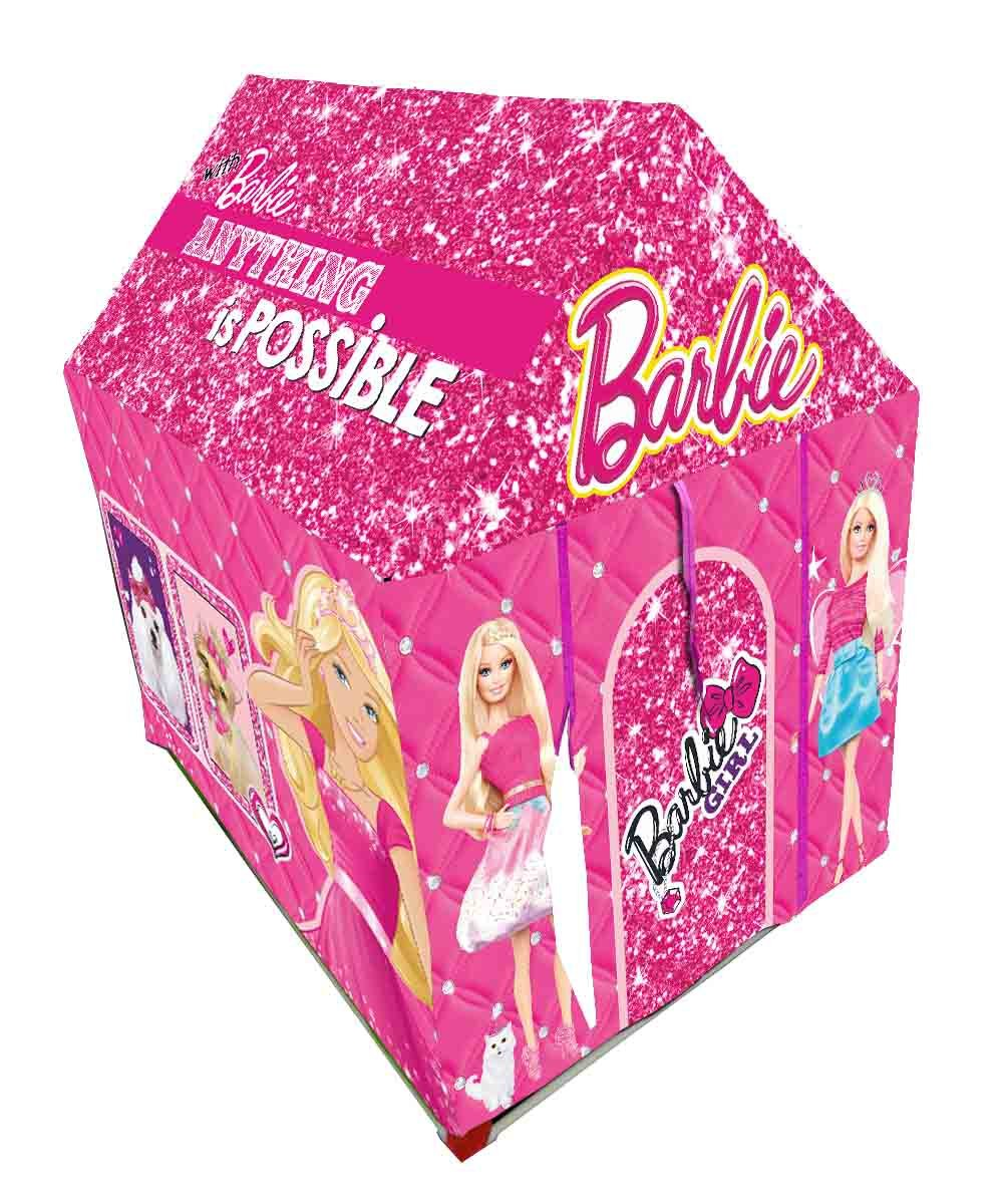 Barbie Tents Part - 20: Buy Gencliq Barbie Kids Play Tent House - Multi Color Online at Low Prices  in India - Amazon.in