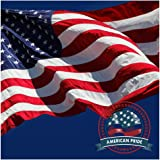 American Flag 4x6 ft -Embroidered Stars Sewn Stripes Brass Grommets U.S. Flags-Long Lasting Nylon Built for Outdoor Use.