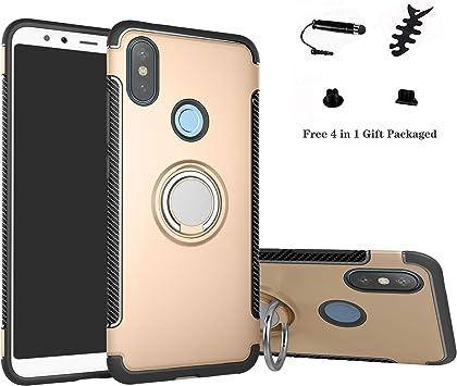 LFDZ Xiaomi Redmi Note 6 Anillo Soporte Funda 360 Grados Giratorio ...
