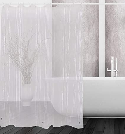 Amazon Dora Liz Clear Shower Curtain Liner Mildew Resistant