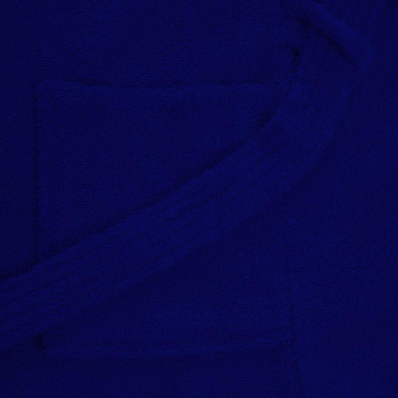 a2c54224e8 Adore Home Kids 100 % Cotton Bathrobe Hooded Blue Terry Towelling Shawl  Collar Bath Robe