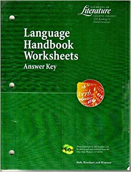 language handbook worksheets answer key elements of literature fourth course mescal evler. Black Bedroom Furniture Sets. Home Design Ideas