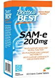 Doctor's Best SAM-e 200 mg, Vegan, Gluten Free, Soy Free, Mood and Joint Support, 60 Enteric Coated Tablets