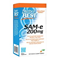Doctor's Best SAM-e 200 mg, Vegan, Gluten Free, Soy Free, Mood & Joint Support,...