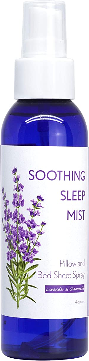 Deep Sleep Lavender Pajama, Linen and Pillow Spray. Relaxing Lavender Sleep Mist. 4 Ounce Spritzer and 2 Lavender Pillow Sachets. (Multiple Scent Options) (Lavender with Chamomile)