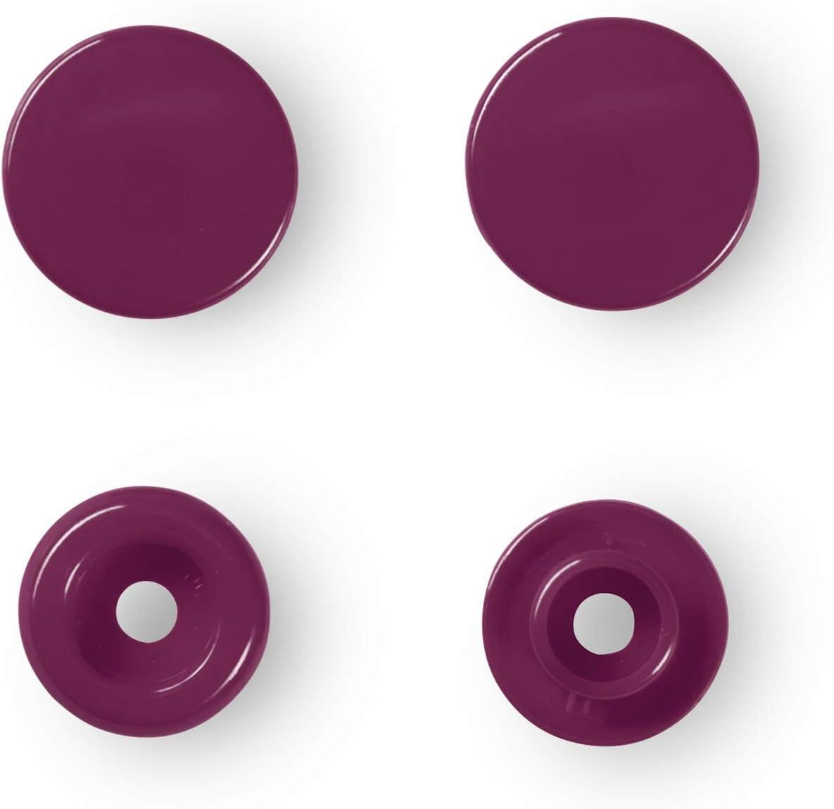 Kunststoff Prym 393147 N/ähfrei Druckknopf Color Snaps rund 12,4 mm pink 12.4 mm