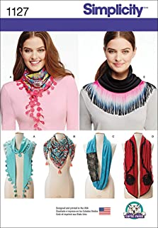 product image for Simplicity Patterns 1127 Misses' Scarves, One Size