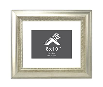Amazon.com - Golden State Art 8x10 Frame for 5x7 Photo with White ...