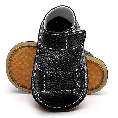 8a070d910a6f0d HONGTEYA Summer Baby Boys Girls Sport Sandals PU Anti Slip Hard Soled  Moccasins Toddler Shoes Sneakers