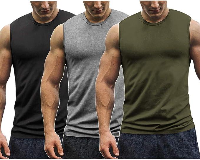 UK Men/'s Muscle Sleeveless Tank Top Shirt Bodybuilding Sport Fitness Vests Hot