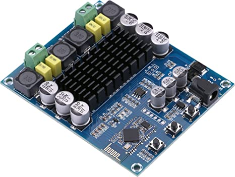 Bluetooth Amplifier Board, Yeeco Dual Channel 120W+120W Bluetooth 4.0 Amplifier Board DC 12