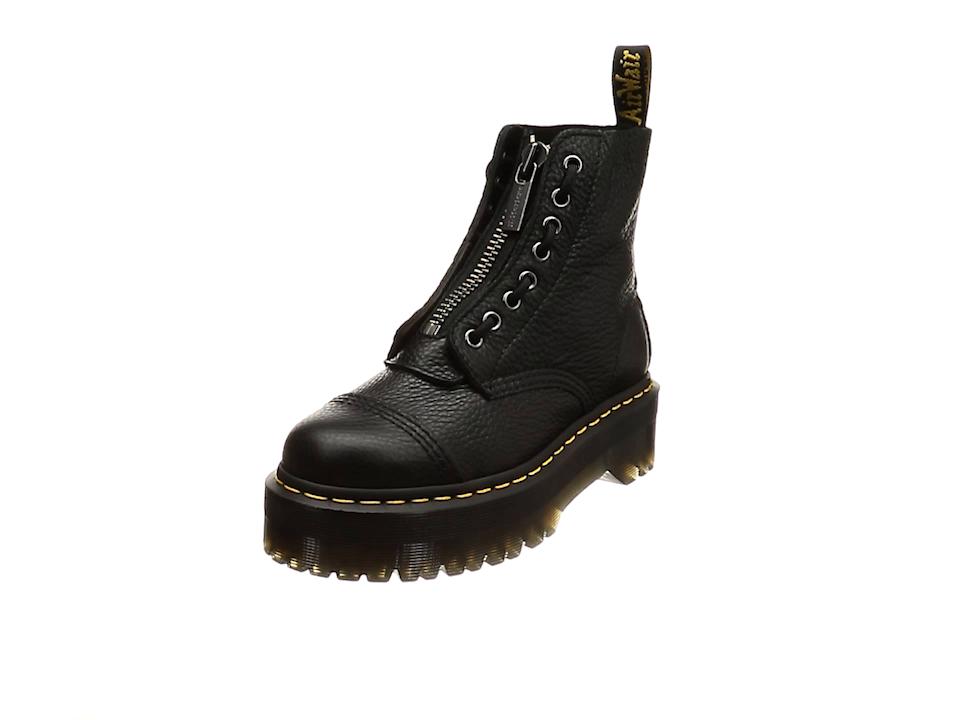 Martens Sinclair Aunt Sally Womens Black Jungle Boot Zipper Boots Shoes Dr