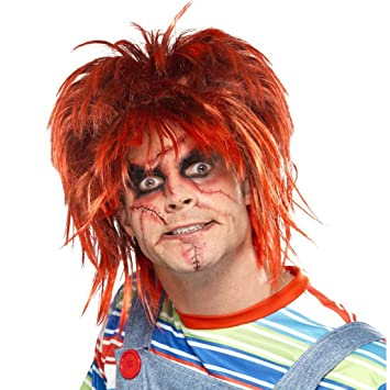 Halloween Makeup Set Scars Make Up Kit Chucky Black Red - Maquillaje-zombie-hombre