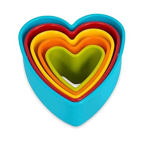 Internet superior del corazón Juego de molde para galletas | conjunto de 5 | con forma