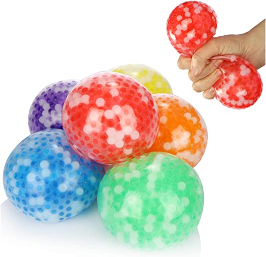 com-four® 6X Bola antiestrés XXL - Pelota aplastante para niños y ...