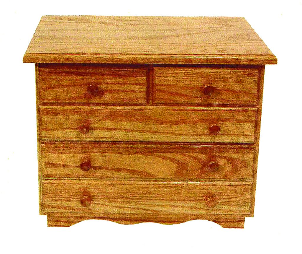 Oak 5-Drawer Jewelry Chest - Amish Made in USA by Furniture Barn USA