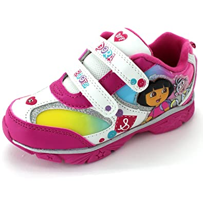 6e5a2ee9c Dora the Explorer Girls Pink Lighted Sneakers Shoes (11 M US Little Kid)