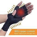 Copper Arthritis Compression Arthritis Gloves,88% Copper Content Comfortable Gloves For Pain Relief of RSI, Rheumatoid…