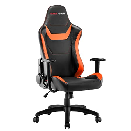 Mars Gaming MGC218 - Silla profesional, tecnología AIR, reclinable 180°, naranja: Amazon.es: Hogar